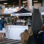 Campus Party Europa - Puesto de café y cinta transportadora