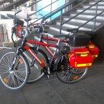 Campus Party Europe - Bicicletas del puesto de bomberos habilitado en el interior del recinto
