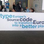 Campus Party Europe - Lema de CP: Retype Europe's Source Code to transform Europe into a better place