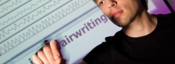 Control por gestos para escribir en el aire
