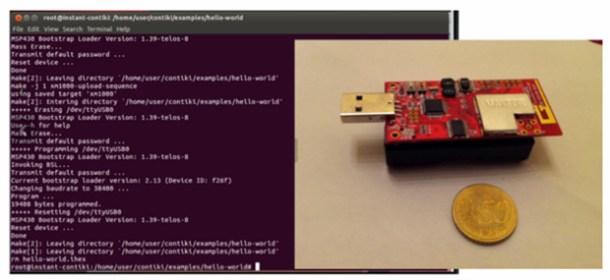 Módulo de hardware abierto para pruebas 6LowPAN y CoAP, con sistema operativo Contiki