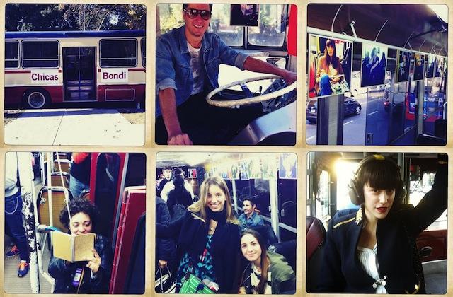 Instagram, chicas y buses, un extraño mix en Buenos Aires
