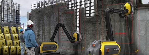 ERO, un robot que tritura hormigón sin generar residuos