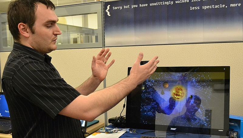 3D gesture control, destined to restore a sense of touch