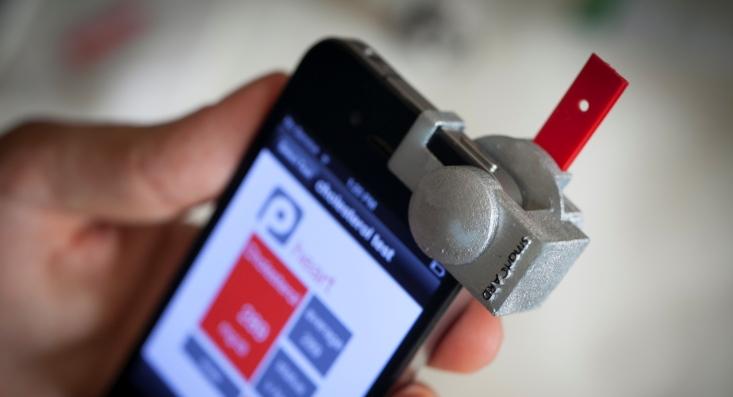 Cuando un smartphone mide el colesterol