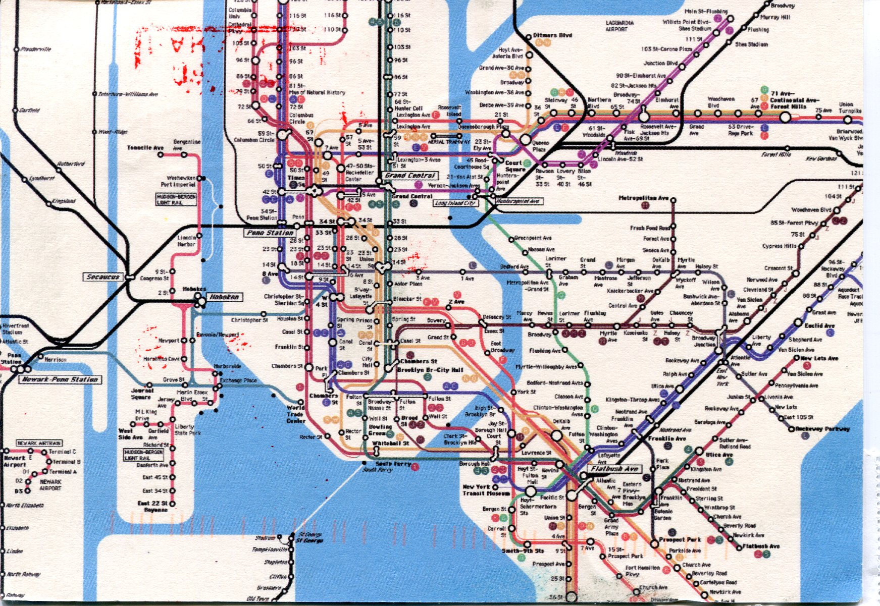Closer to the first map of bacteria hiding in the New York subway
