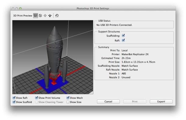 impresión 3D con Photoshop