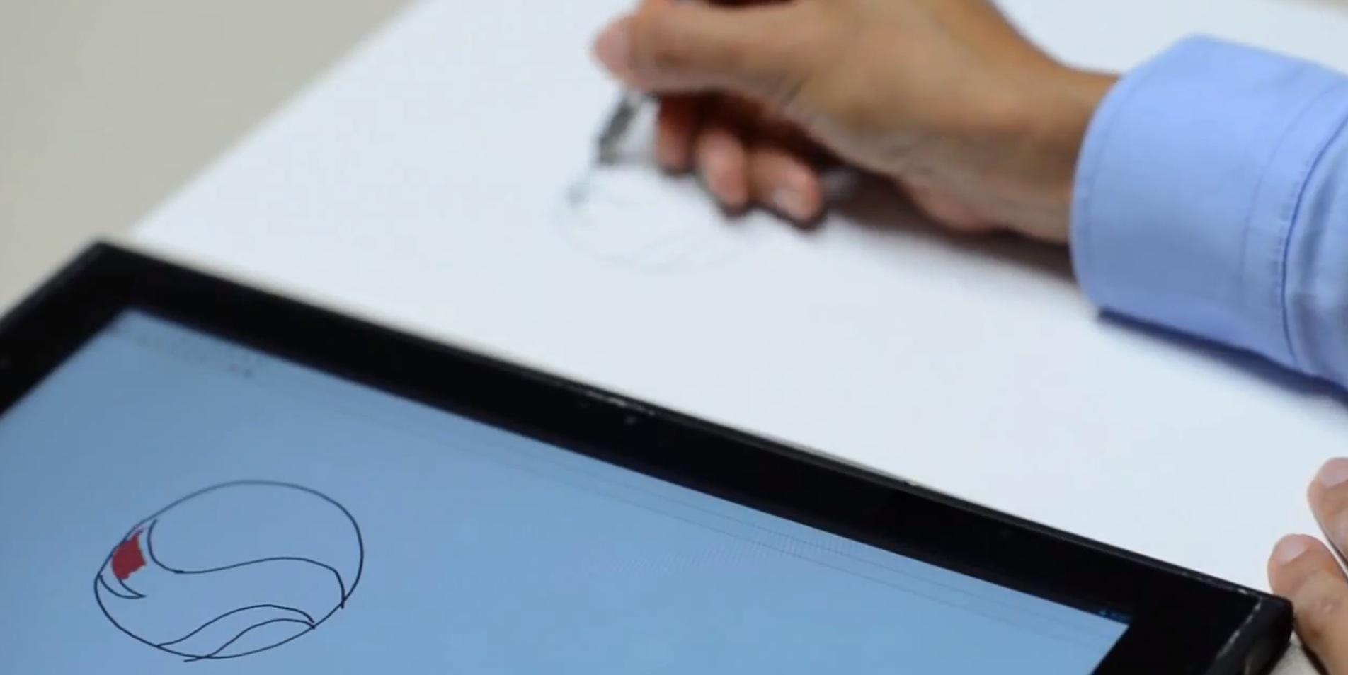 Qualcomm Ultra Sound NotePad: lo que escribes o dibujas en papel, en tiempo real en tu iPad