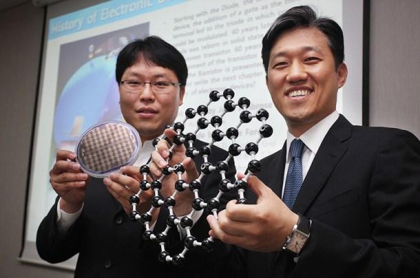 Transistor de grafeno de samsung