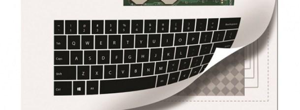 Novalia creates a paper bluetooth keyboard
