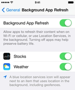 consumo de batería de la app de Facebook para iPhone