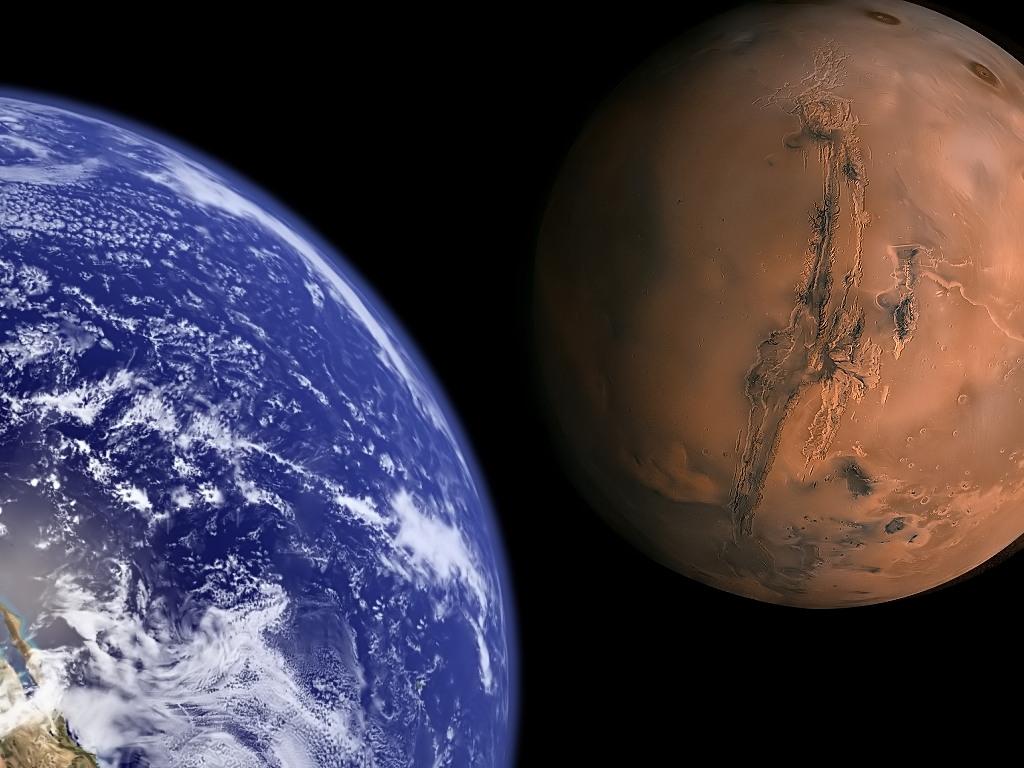 Las bacterias podrían colonizar Marte a la vez que el hombre