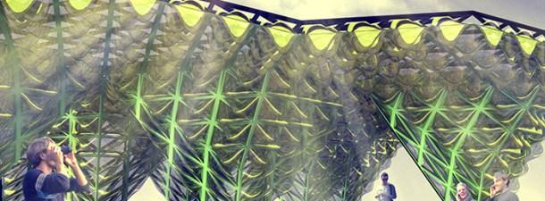 Tecnología y bioarquitectura se fusionan en Urban Algae Canopy