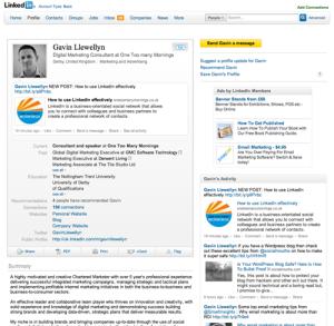 perfil de LinkedIn - Gavin Llewellyn