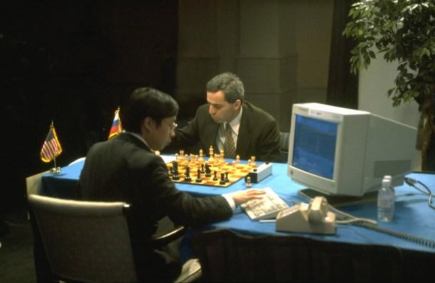 GARRY KASPAROV PLAYS AGAINST DEEP BLUE