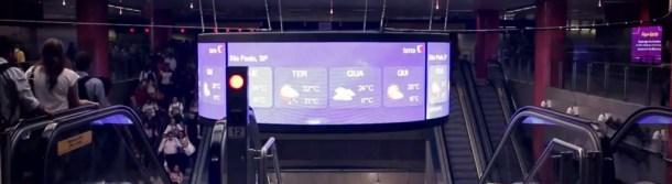 Digital Signage - Panel circular en Sao Paulo