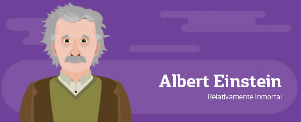 ilustración de Albert Einstein