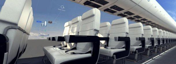 La experiencia de viajar en un avión con visión panorámica