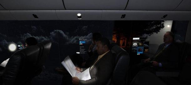 avión panorámico
