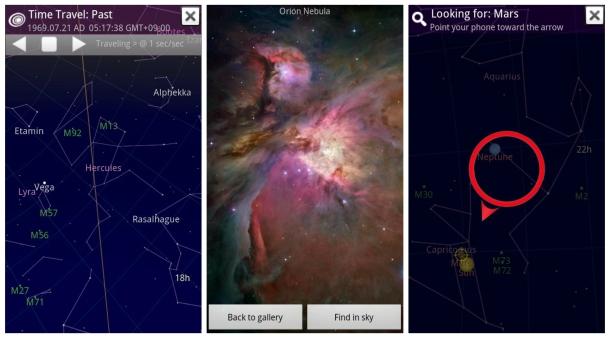 realidad aumentada - Sky Map