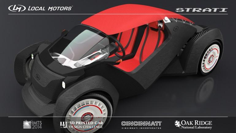 Strati es el primer coche impreso en 3D