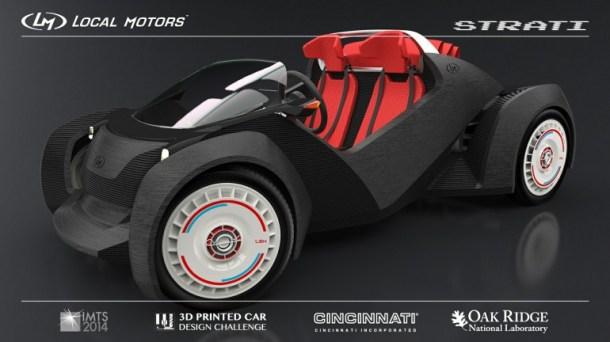 coche fabricado por impresión 3D