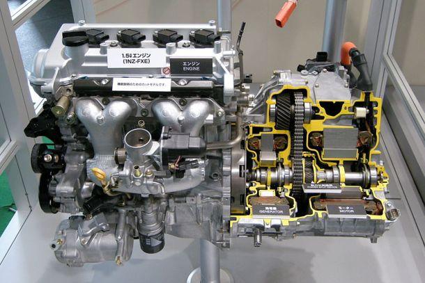 funcionamiento del motor híbrido