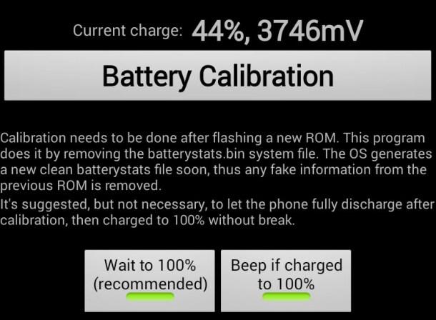 calibrar la bateria en android