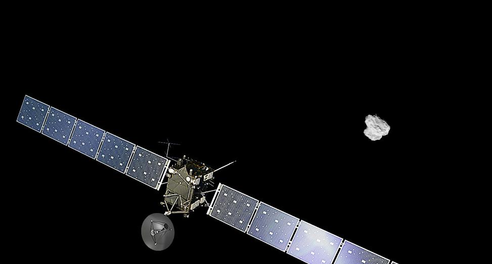 Philae, a punto de aterrizar en el cometa 67P/Churymov-Grasimenko