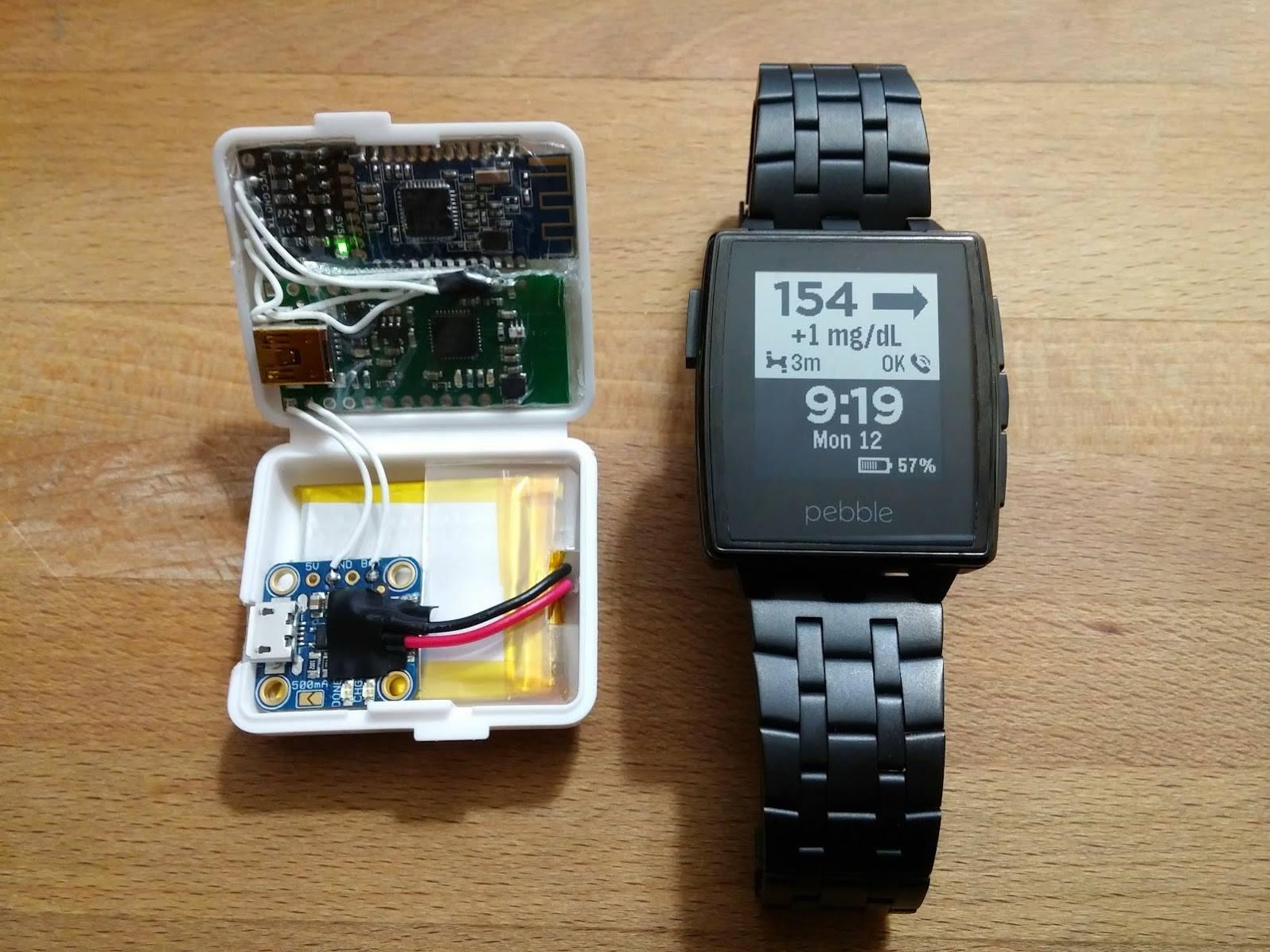 Desarrollan sensor wireless que visualiza los valores de glucosa en sangre en un reloj Pebble