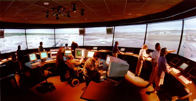 Este es el simulador de aeropuertos de la NASA