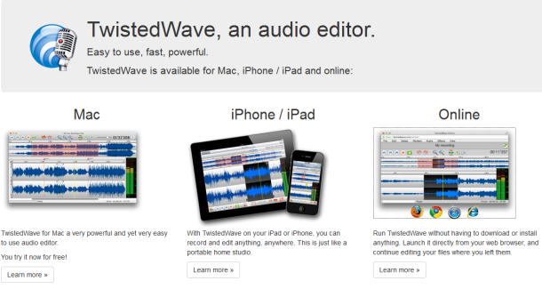 Twisted wave editor audio