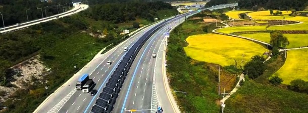 32 kilómetros de techo solar para la nueva bicipista construida en Corea del Sur