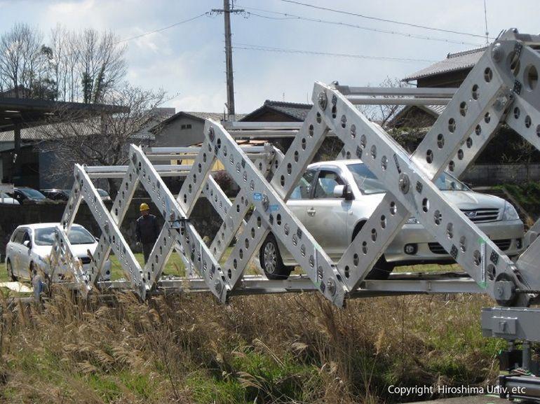 Este puente con forma de origami podría servir en las catástrofes