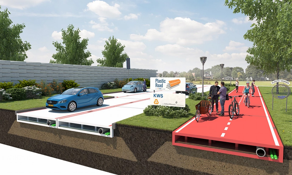Carreteras de plástico montadas como un Lego, así serán las futuras carreteras holandesas