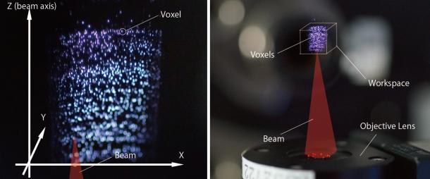 holograma 3D háptico