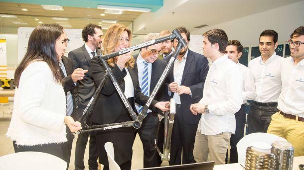 Racormance con presidenta de la Junta de Andalucia y presidente de Telefonica