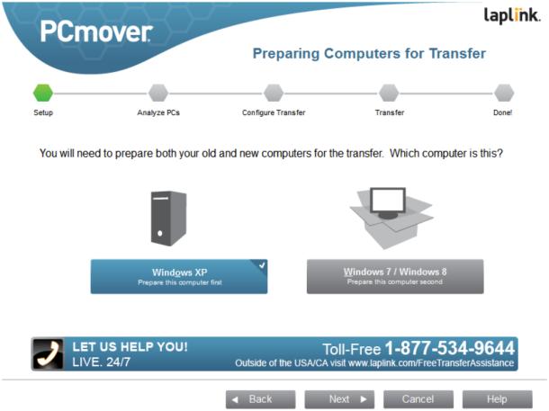 PCMover-Express setup