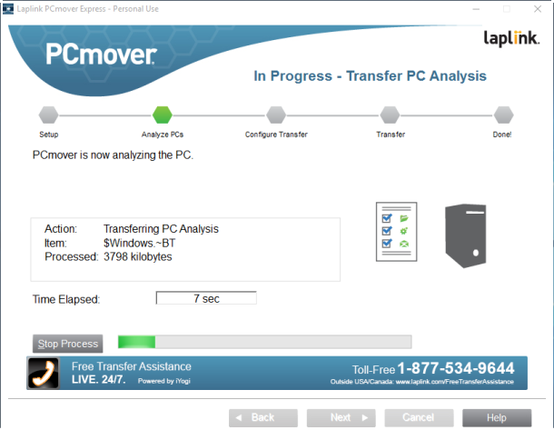 PCmover-Express analizar pc