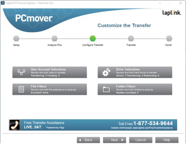 PCmover-Express-configurar transferencia