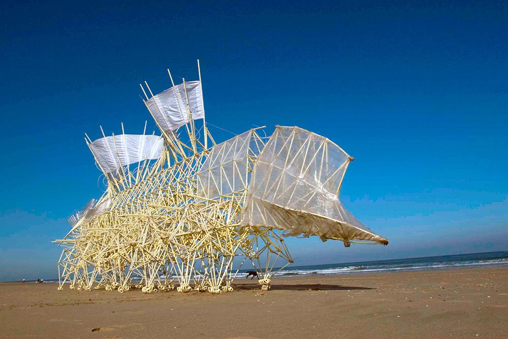 Theo Jansen,  creador de criaturas que viven del aire