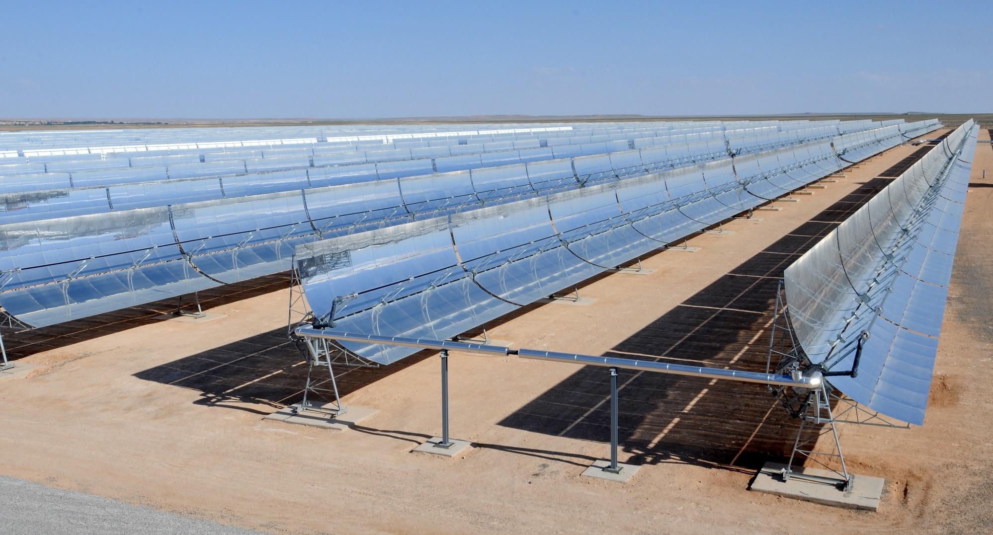 Así es la gigantesca planta solar que está construyendo Marruecos