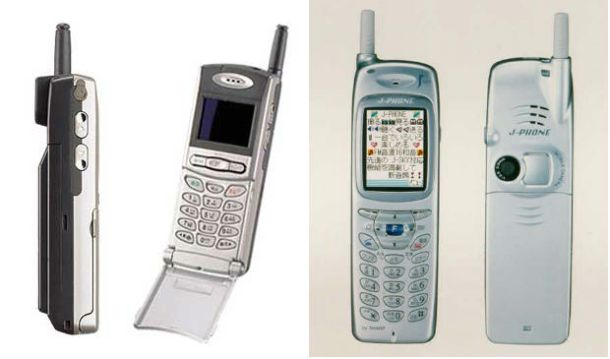Izquierda: Samsung SCH-V200. Derecha: Sharp J-SH04