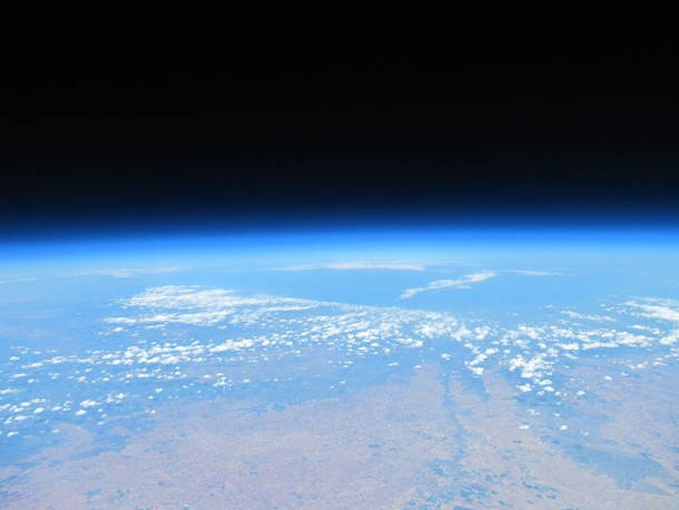 Foto curvatura de la tierra