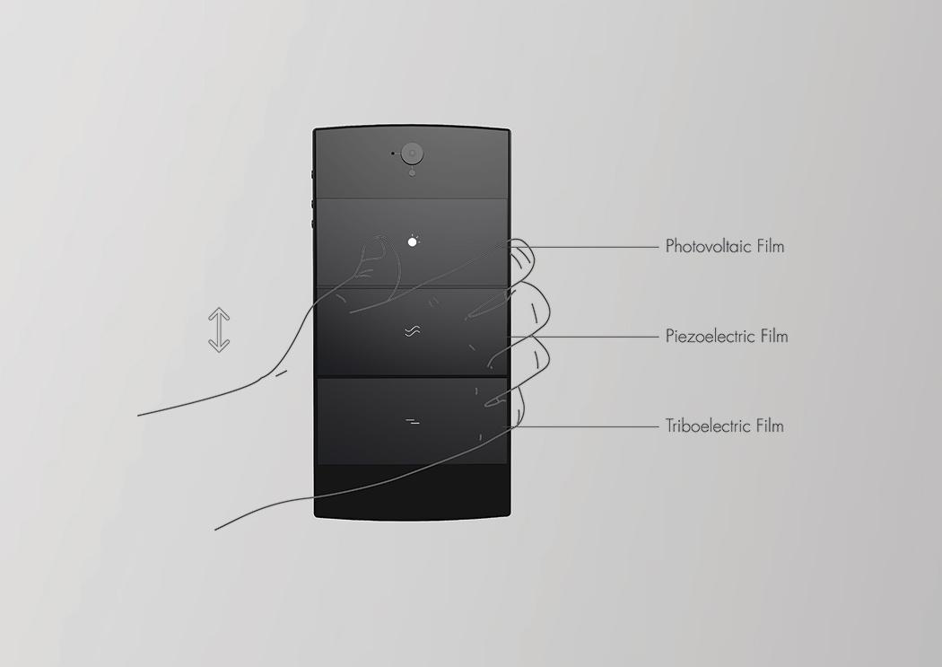 Delta V es un smartphone conceptual que se recarga sin electricidad