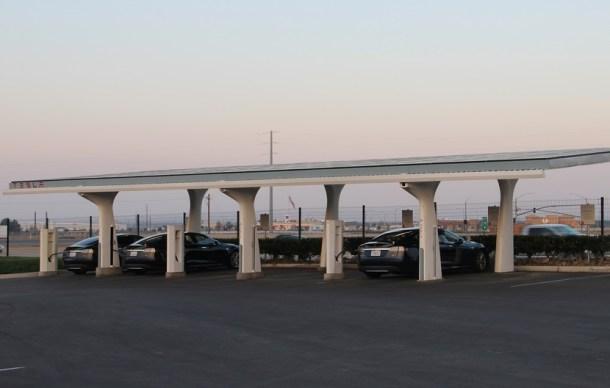 Estaciones de carga de Tesla