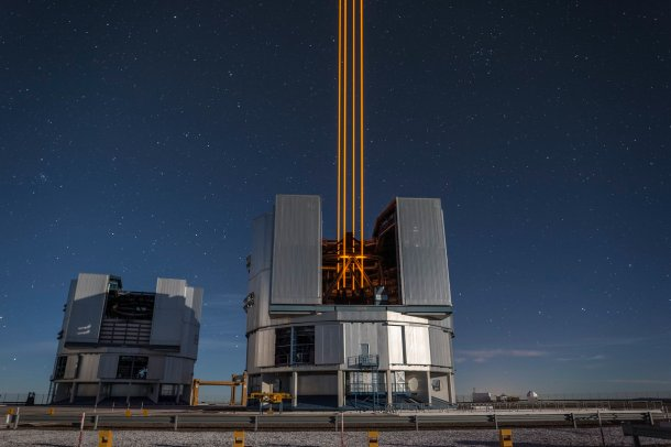 The most powerful laser guide star system in the world sees firs