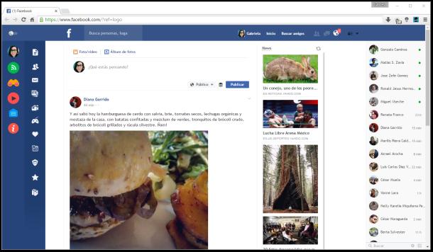 flatbook facebook chrome