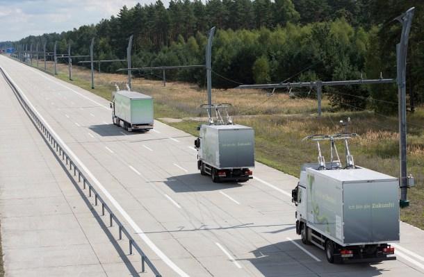 Vía eléctrica para camiones