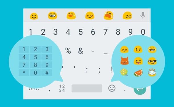 Teclado Android Números Emojis